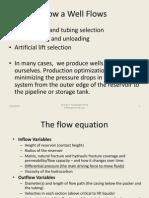 How a Well Flows