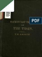 Abott T K - Elementary Theory of Tides Fundamental Theorems Explained Without Mathematics - Longmans - 1888