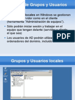 Usuarios y Grupos en Directorio Activo