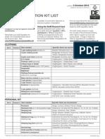 DofE Expedition Kit List