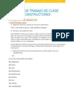 Plan de Trabajo de Clase Constructores