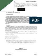Ds 059-96-Pcm Tuo de Las Normas Con Rango de Ley Que Regulan La Entrega en Conseción Al Sector Privado de Las Obras Públicas de Infraestructura y de Servicios Públicos