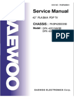 Daewoo Plasma PDP TV DPX-42D1NMSB-DPX-32D1 Parts and Service Manual