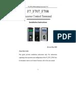 182Y89 F7 F707 F708 Installation Manual