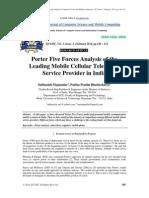 Porters Telecom Model