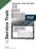 Failure codes fendt 900 Vario 09 2007