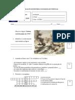 Ficha de AvaliaÇÃo de HistÓria e Geografia