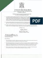 Archdiocese of Newark Memorandum
