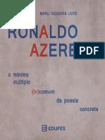 Livro Edufes Ronaldo Azeredo o Mínimo Múltiplo Incomum Da Poesia Concreta
