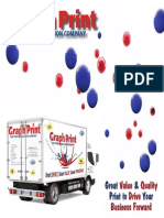 graph print brochure for trade show