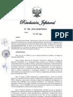 Resolución Jefatural 086-2014-Cenepred-j Aprueba El Manual Para La Ejecución de Las Itse y Formatos