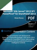 SQL 2012 SP1 PowerPivot for SharePoint 2013