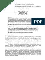La Metodología Científica en Economía de La Empresa