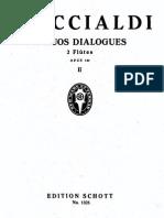 Briccialdi G, - 16 Duos Dialogues for Two Flutes Op.132. Part 2 - Score