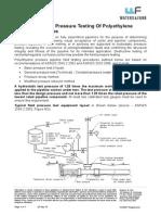 Field Hydrostatic Pressure Testing Of Polyethylene Pressure Pipelines