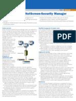 Netscreen Security Manager Datasheet