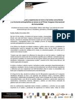 Primer Boletin Congreso Comunalidad.