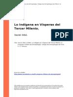 Xavier Albo. (1998). Lo Indigena en Visperas Del Tercer Milenio