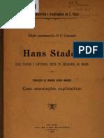 Hans Staden - Suas Viagens e Captiveiro Entre Os Selvagens Do Brasil - 1900