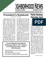 EBCA Newsletter Spring 2010