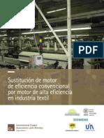 Sustitución a Motor de Alta Eficiencia en Industria Textil