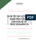 Guía Técnica Para La Elaboración de Manuales de Procedimientos