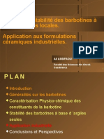 Etude de La Stabilité Des Barbotines à Base d'Argiles Locales.