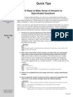 How to Answer Open End Questions