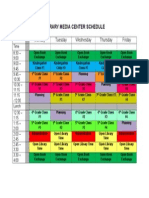 library class schedule sample