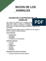 Animales extintos en los ultimos 100 años