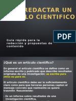 Metodologia Para Articulo Cientifico