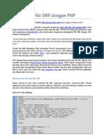 Baca Tulis File DBF Dengan PHP