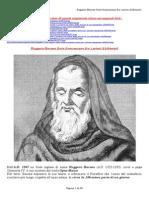 Ruggero Bacone Frate Francescano Fra i Primi Alchimisti