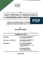 83250993 Audit Comptable Financier Transaprence Financiere