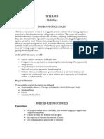 statistics classroom syllabus