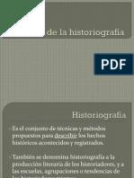 Historia de la Historiograf+¡a