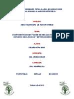 Estudios de Mecanica de Suelos, Geologia e Hidrologia.