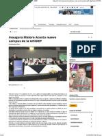 01-10-15 Inaugura Maloro Acosta nuevo campus de La UNIDEP