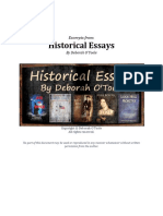 Historical Essays (*EXCERPTS ONLY*)