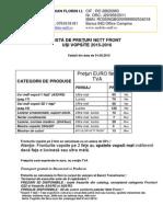 Listă de Preţuri Nett Fron Mdf Vopsit 2016