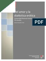 Del Amor y La Dialectica en Platon