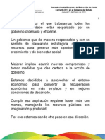 27 01 2011 Presentación del Programa Reducción de Gasto Corriente