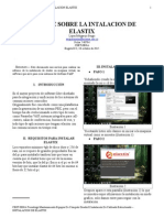 Informe de La Instalacion de Elastix