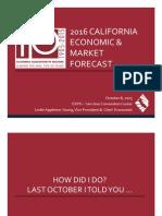 2016 California Economic & Market Forecast