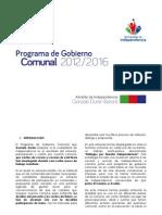 Programa_comunal Independencia Pladeco 2012-2016