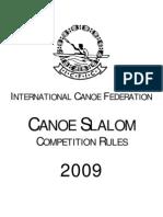 ICF Canoe Slalom Rules 2009 - Smaller Text