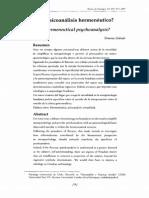 Psicoanálisis hermenéutico-X_Zabala