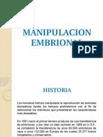 MANIPULACION EMBRIONAL
