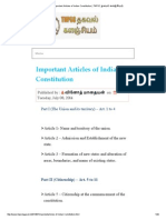 Important Articles of Indian Constitution _ TNPSC தகவல் களஞ்சியம்