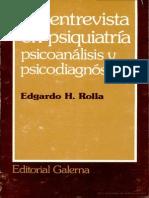 Rolla La Entrevista en Psiquiatria Pscoanalisis y Psicodiagnostico
